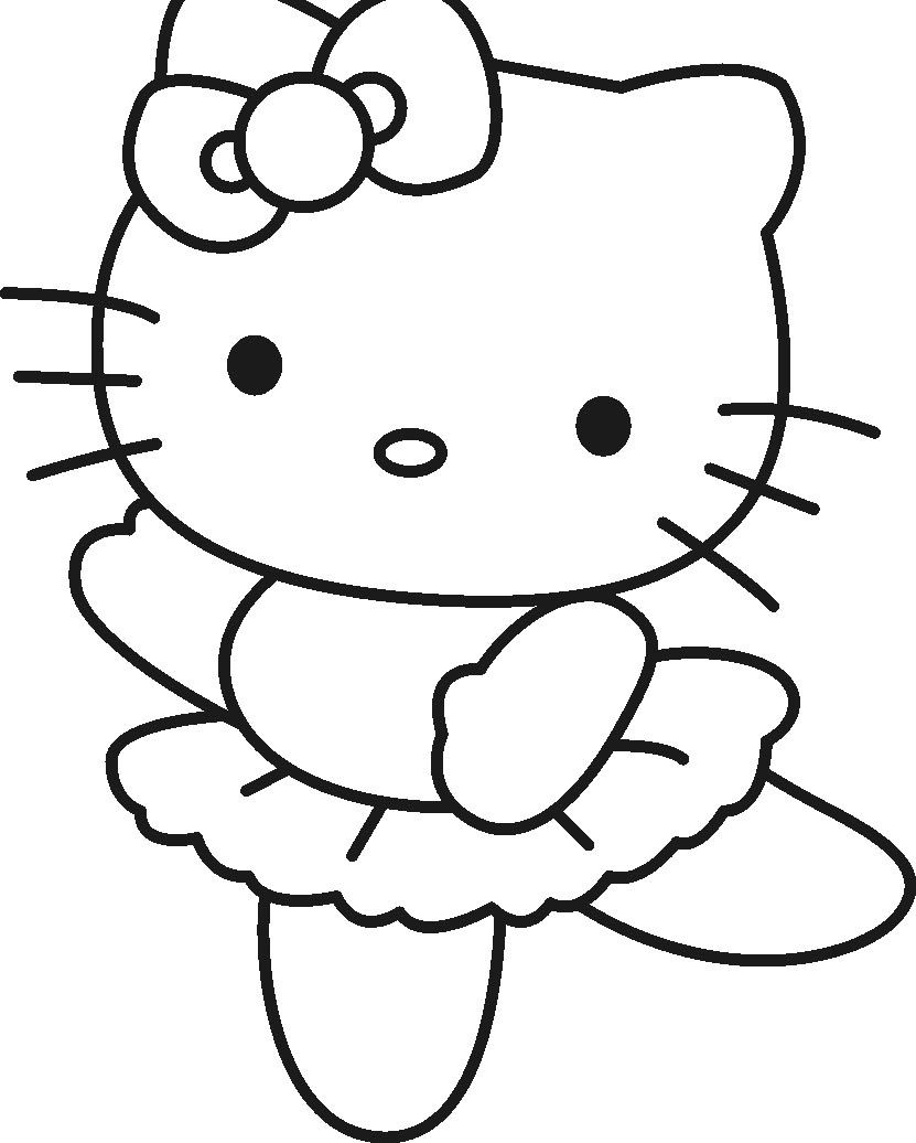I have download hello kitty dancing coloring page