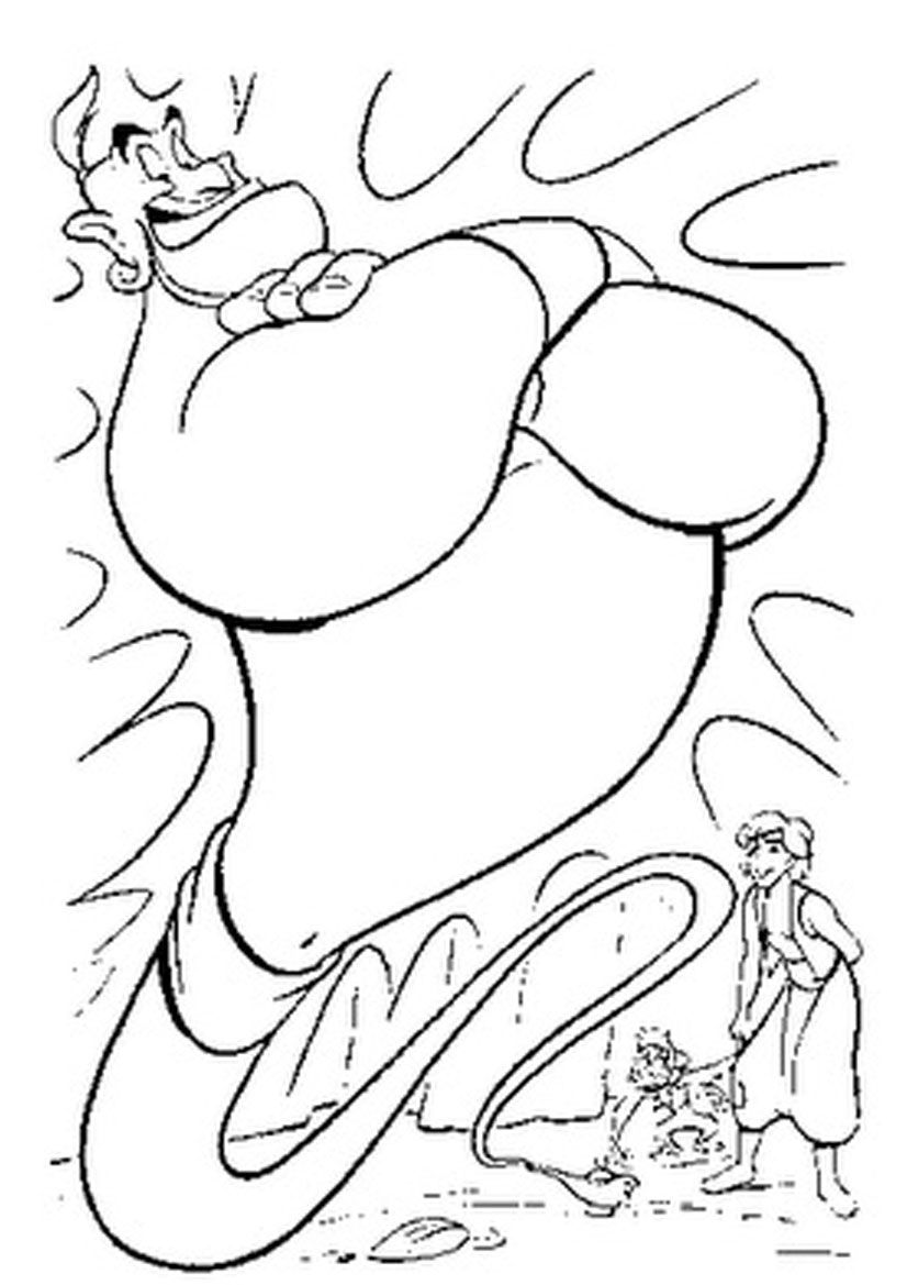 Aladdin Lamp Coloring Pages Free Disney Coloring Pages Disney