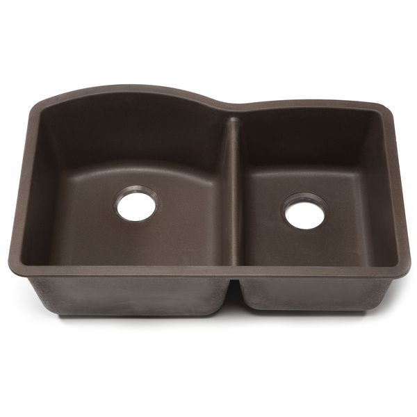 Blanco Silgranit Diamond Cafe Brown 1 3/4 Undermount Double Bowl Kitchen  Sink By Blanco