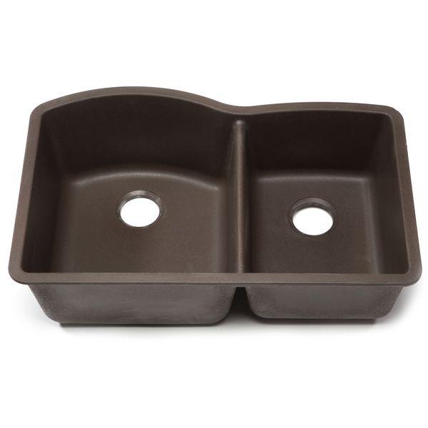 Blanco Silgranit Diamond Cafe Brown 1 3/4 Undermount Double Bowl Kitchen  Sink By Blanco