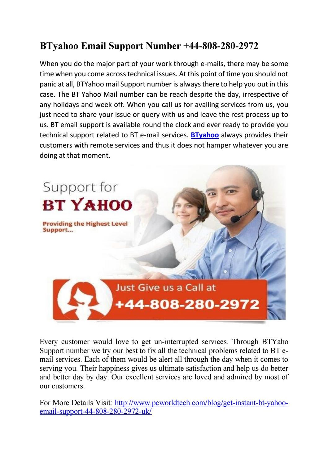 Bt yahoo email support Supportive, Apple support, You