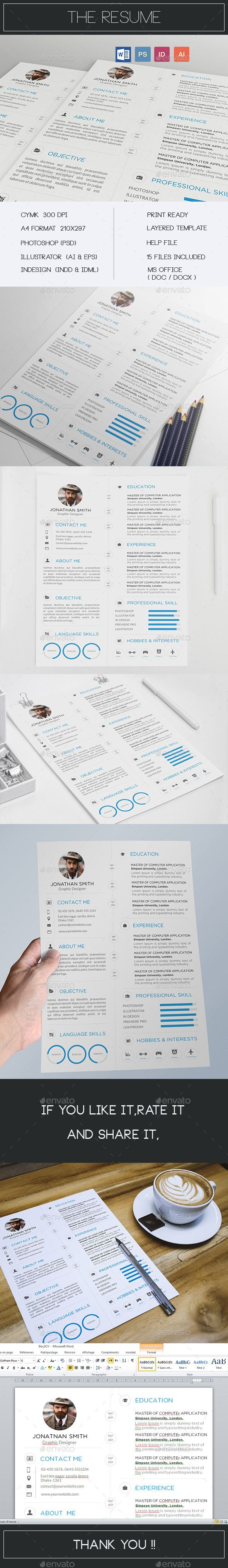 Creative Resume / CV — Photoshop PSD #work #simple • Available here → https://graphicriver.net/item/creative-resume-cv/11617829?ref=pxcr