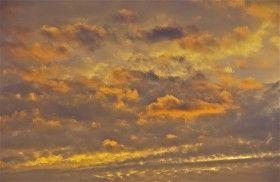 Layers; Churn Creek abstract at sunset; Chesapeake Bay; Worton, Kent County, Maryland, USA.  October 2014.