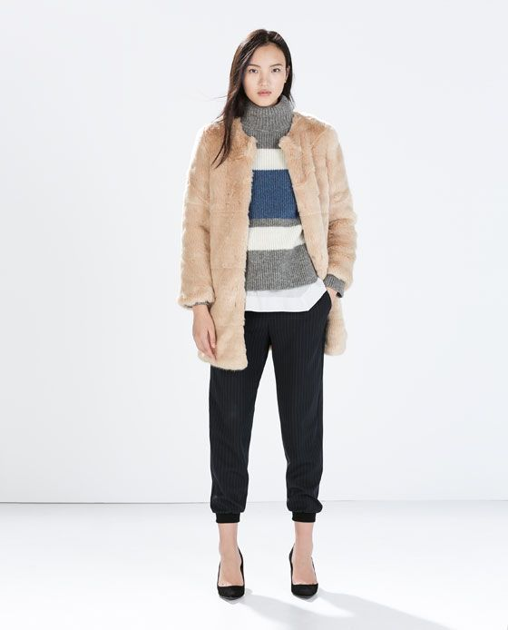 Abrigo Furry Coat want Pelo Pinterest List Woman Zara wBqp5Yw