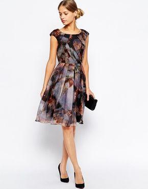 Enlarge Ted Baker Skater Dress in Blooms of Enchantment Print