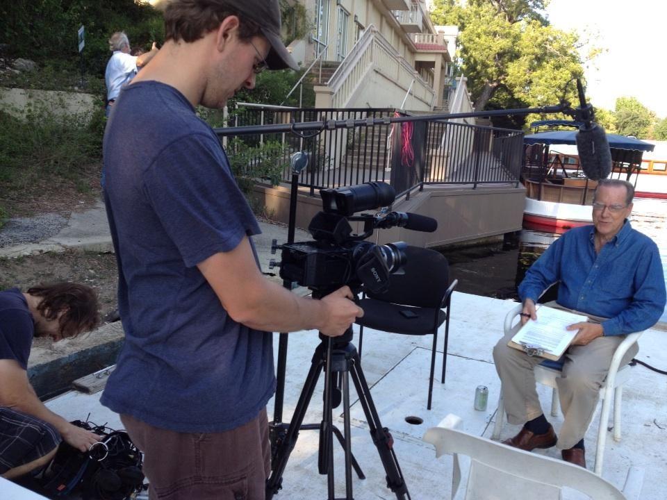 Mark Stitzer filming an interview with Ken Kramer from Sierra Club. 9/25/202