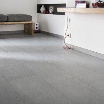 Carrelage sol et mur cendre effet béton Liverpool l30 x L60 cm