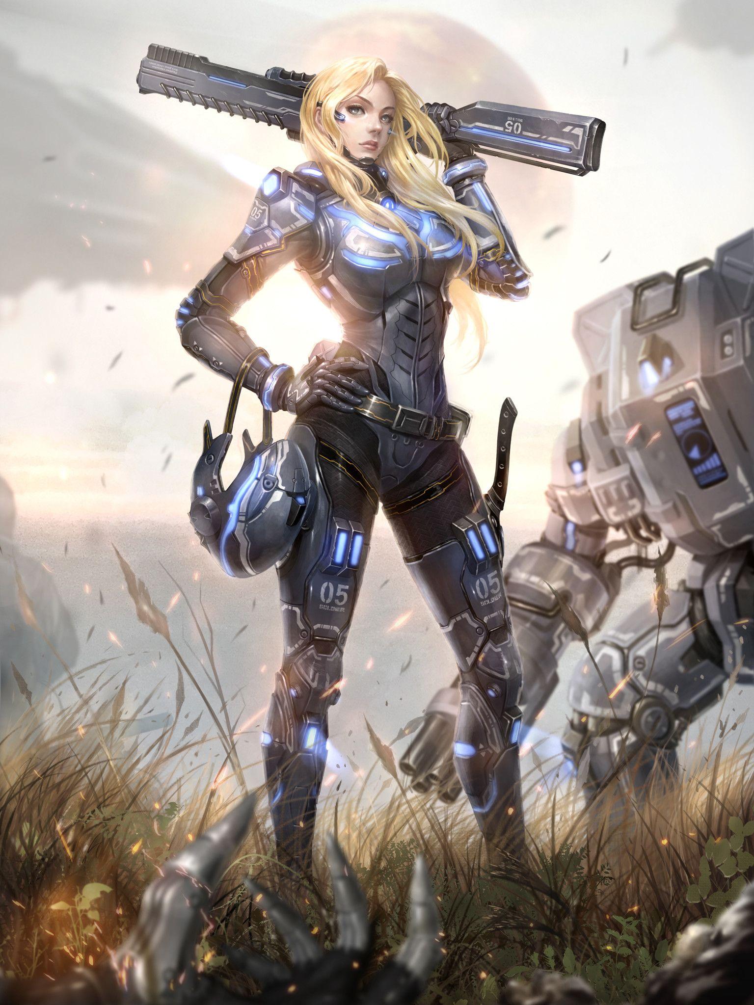 ArtStation - Female soldier, Yoon LEE   Cyberpunk art ...