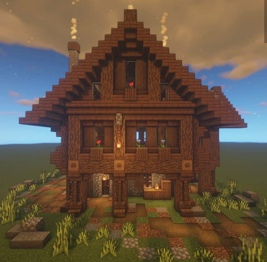 Wooden Spruce Survival House Minecraft In 2020 Minecraft Houses Minecraft Designs Minecraft Architecture