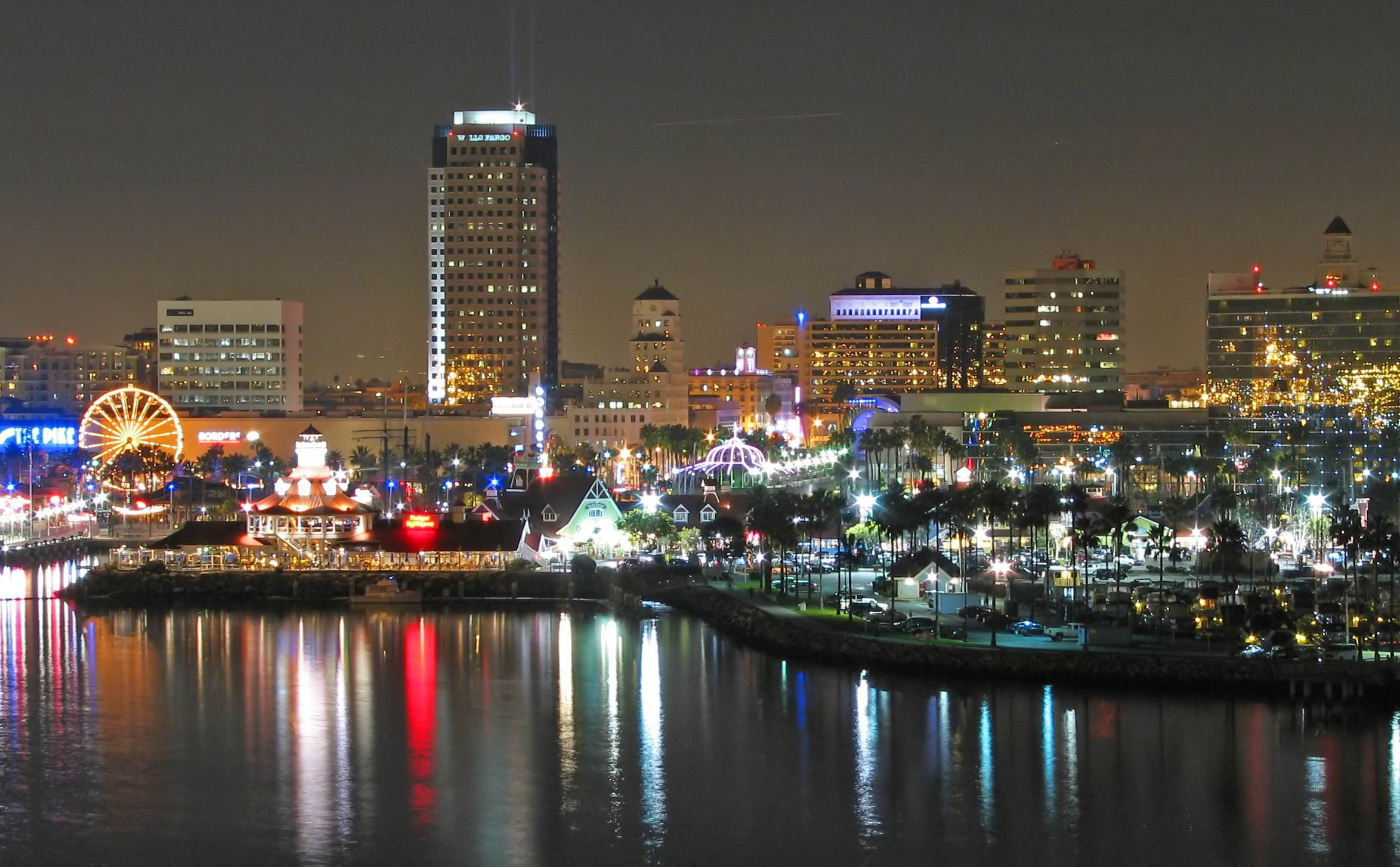 long beach california | Long Beach at night, California Desktop Wallpapers and Backgrounds