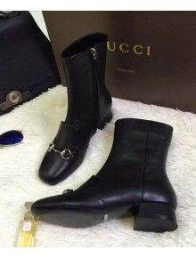 4da7be9a68d Gucci Leather horsebit ankle boot Fall Winter 2015