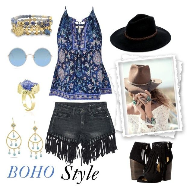 """""""Boho"""" by surfergirl3915-1 ❤ liked on Polyvore featuring Spell & the Gypsy Collective, Sans Souci, Rebecca Taylor, Billabong, BillyTheTree, Emma Chapman, Chinese Laundry and Sunday Somewhere"""