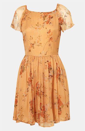 Topshop 'Autumn Meadow' Print Dress @Nordstrom