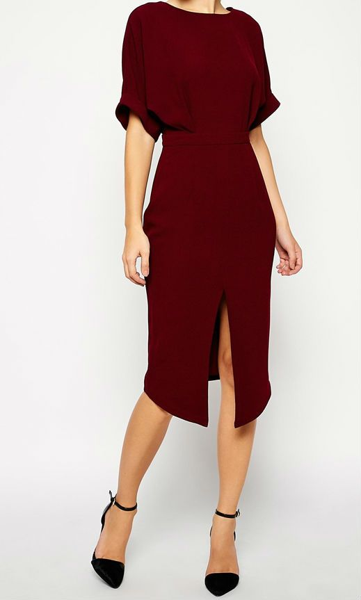 Wiggle Dress With Wrap Back And Split Front Dresses