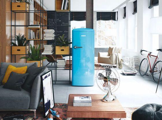 Oldtimer OT 274 BB (A+++) Kühlschrank, Oldtimer und Wohnzimmer - schoner wohnen wohnzimmer grau