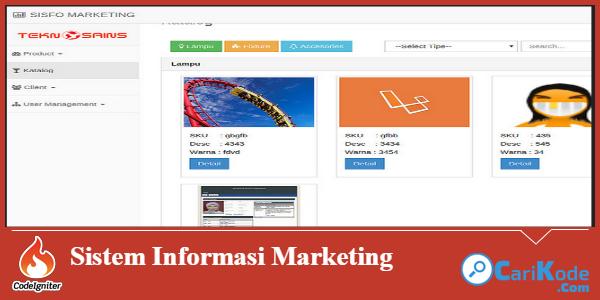 Download Aplikasi Sistem Informasi Marketing Menggunakan Php Marketing Php Coding