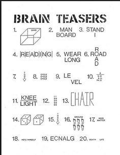 Slobbery image pertaining to brain teasers for seniors printable