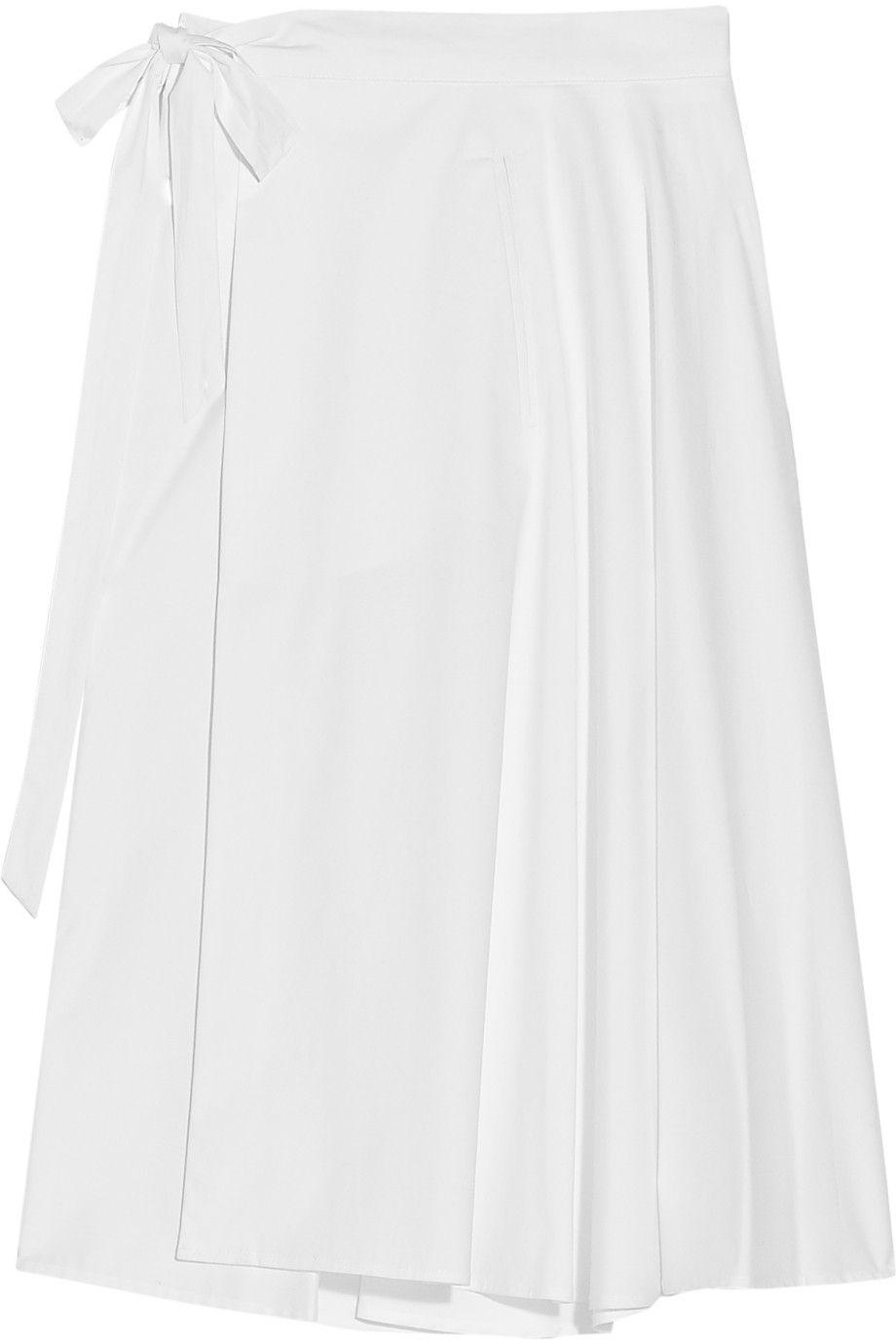 CLEMENSENAUGUST Cotton wrap skirt 14375 via theoutnet nuevos