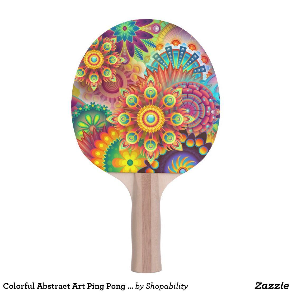 Colorful Abstract Art Ping Pong Paddle Smile Sparkle And Shine Ping Pong Paddles Ping Pong Paddle Black Re Ping Pong Paddles Colorful Abstract Art Ping Pong
