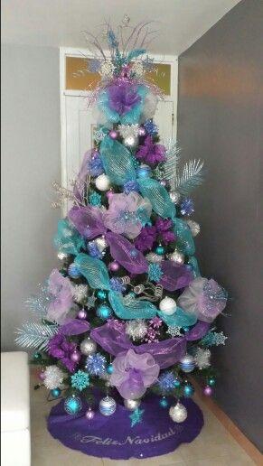 die besten 25 purple christmas tree decorations ideen auf. Black Bedroom Furniture Sets. Home Design Ideas