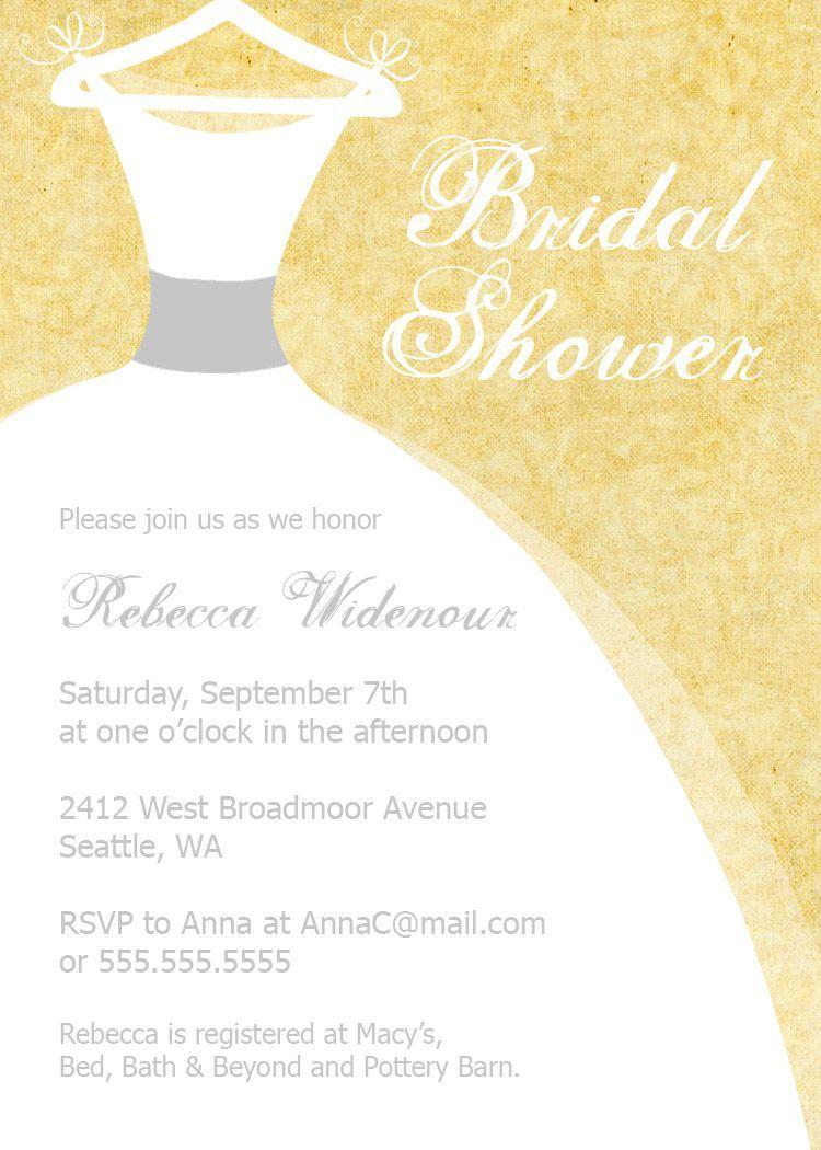 bridal shower invitations samples   bridal shower invitations ...