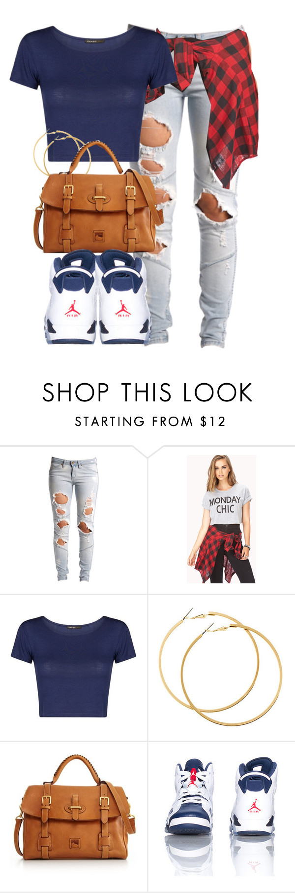 """Dope Darling."" by cheerstostyle ❤ liked on Polyvore featuring Lee, Forever 21, MANGO, H&M, Dooney & Bourke, women's clothing, women's fashion, women, female and woman"