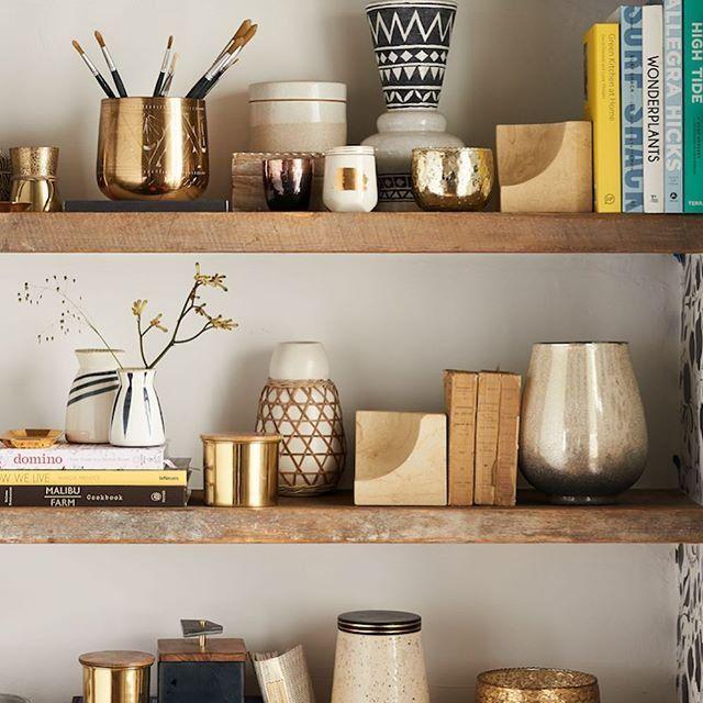 Aerin Gold Home Decor Inspiration: Shop Anthropologie Home