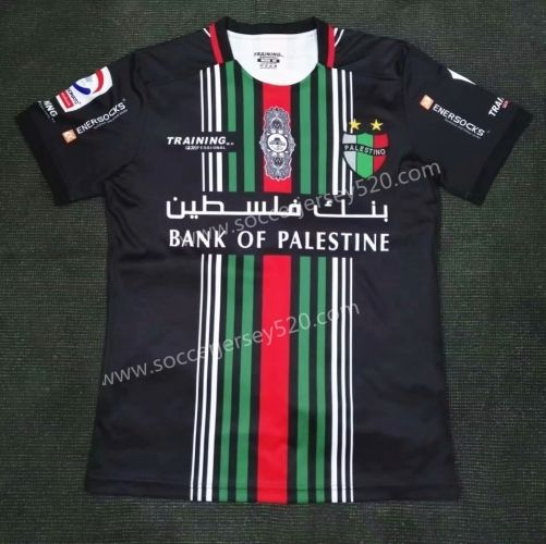 8a3f956f8 2018-19 Palestino Home Black Thailand Soccer Jersey AAA-416