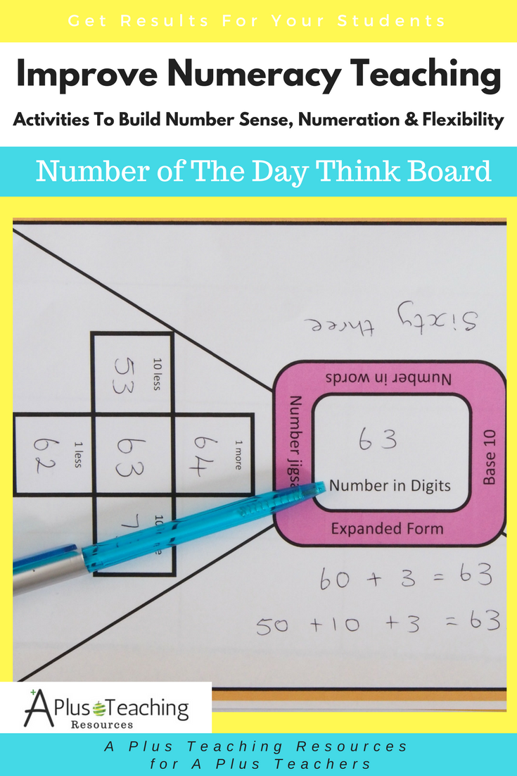 Build Number Sense - Think board Template | My Website - www ...