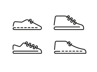 ade99114990c Shoe icons by Romualdo Faura Logo Branding
