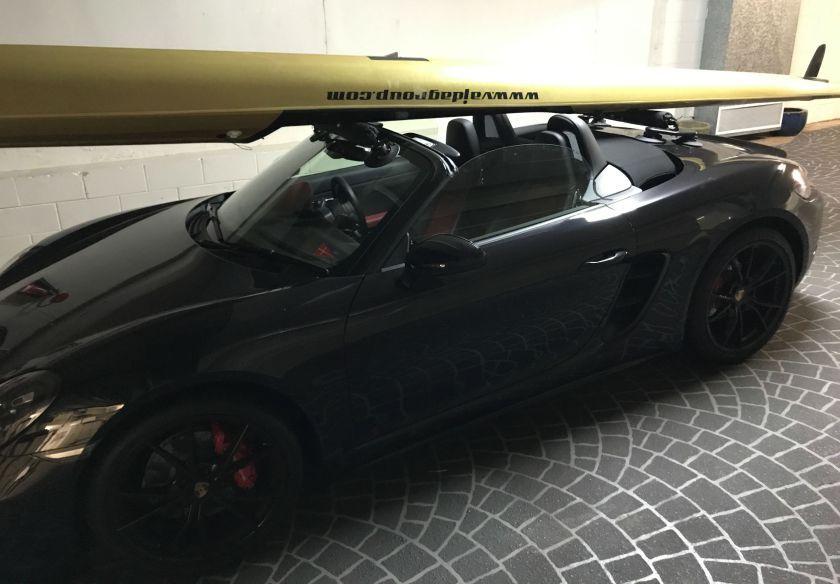 Porsche 718 Boxster S The SeaSucker Paddle Board Rack