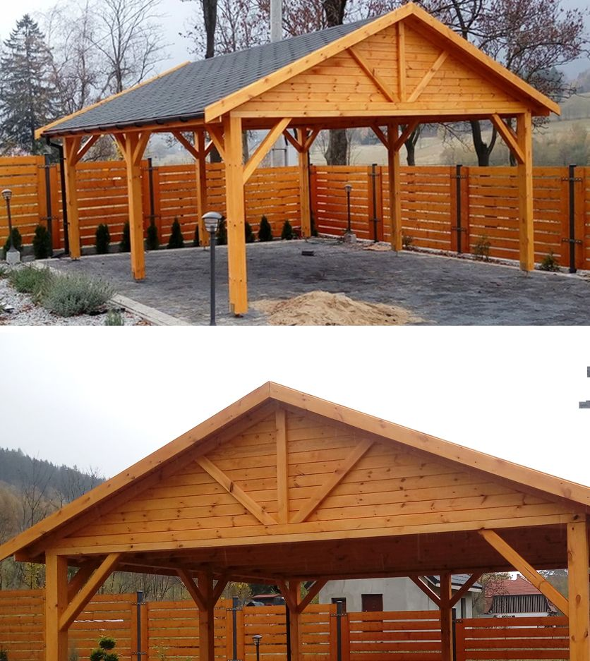 Wiata Drewniana Altana 5x5 Wiaty Garaz Zadaszenie Carport Designs Carport Patio Carport