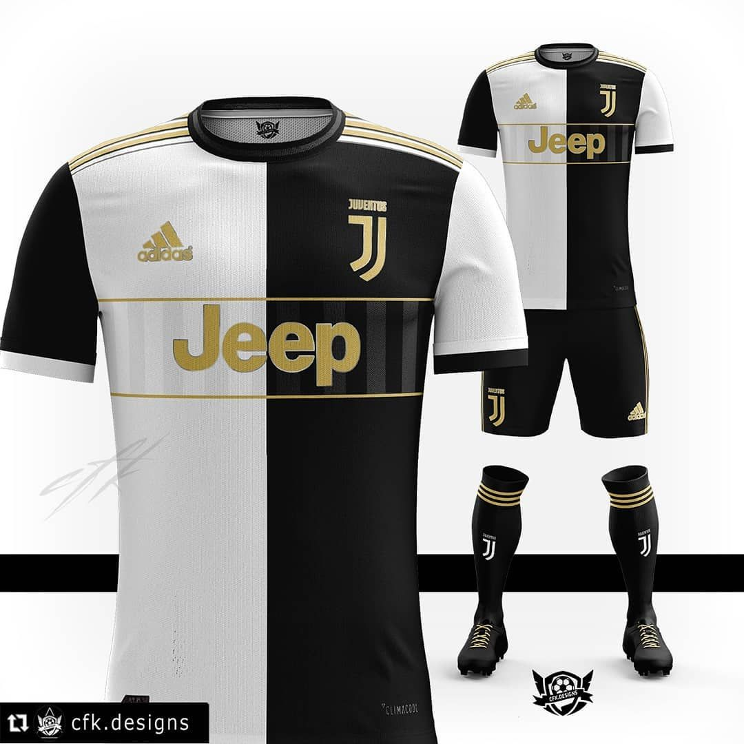 "8f1355d68  cfk.designs on Instagram  ""2019 20 Adidas kit for Juventus 🦓 Based on   Leaks Tell me your opinions down below and rate it from 1-10      juventus  ..."