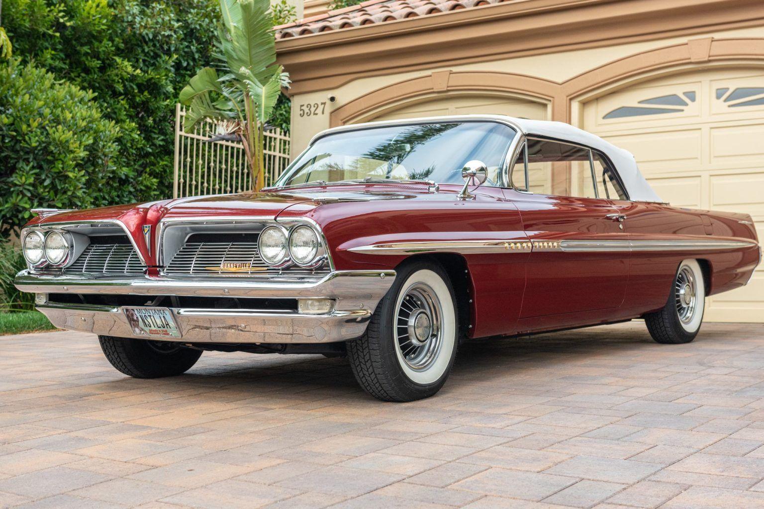 1961 Pontiac Bonneville Convertible 389 4 Speed In 2020 Pontiac Bonneville Pontiac Bonneville