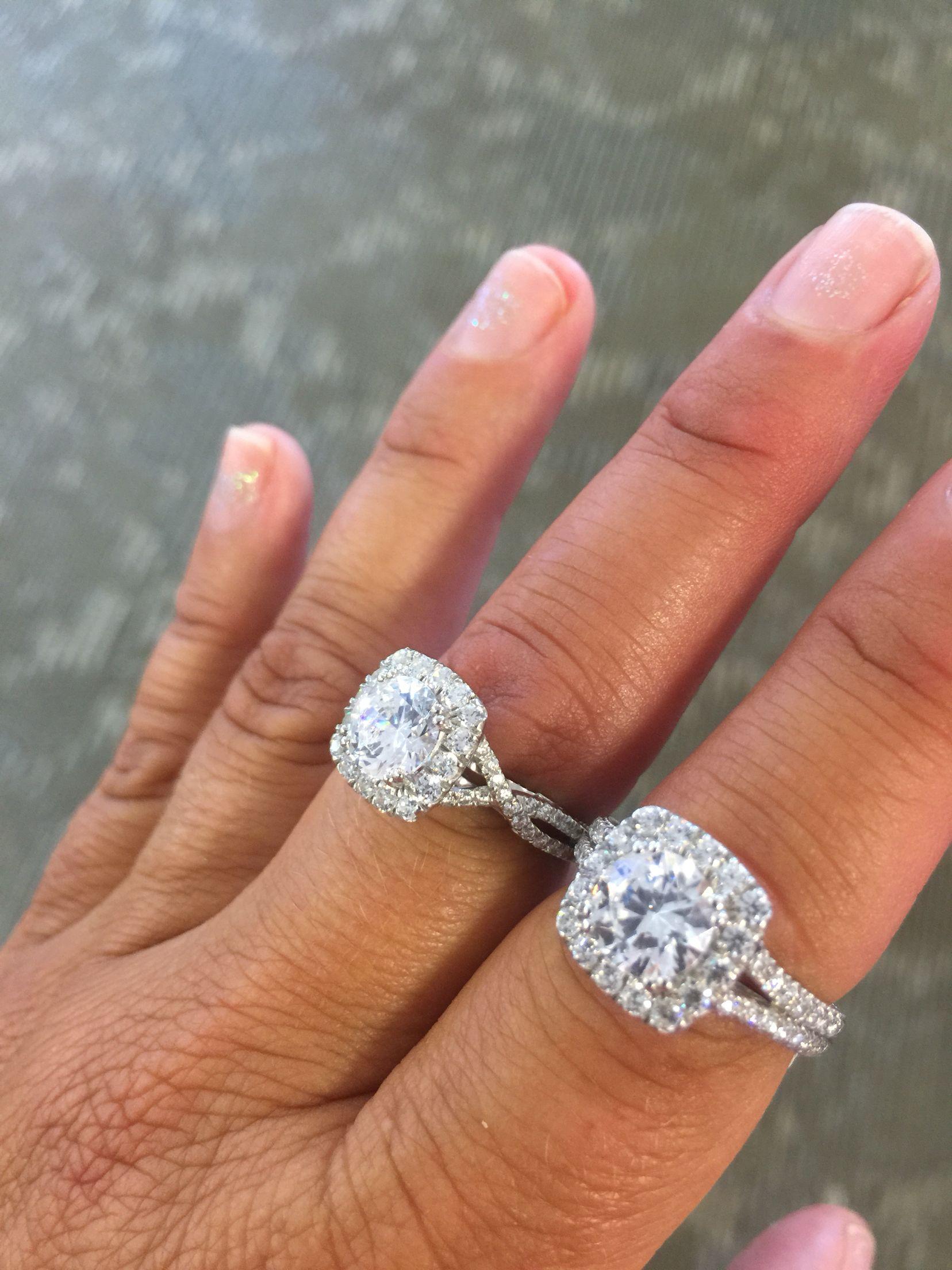 Verragio Insignia 7062cul Insignia 7086cu Halo Diamond Engagement Ring