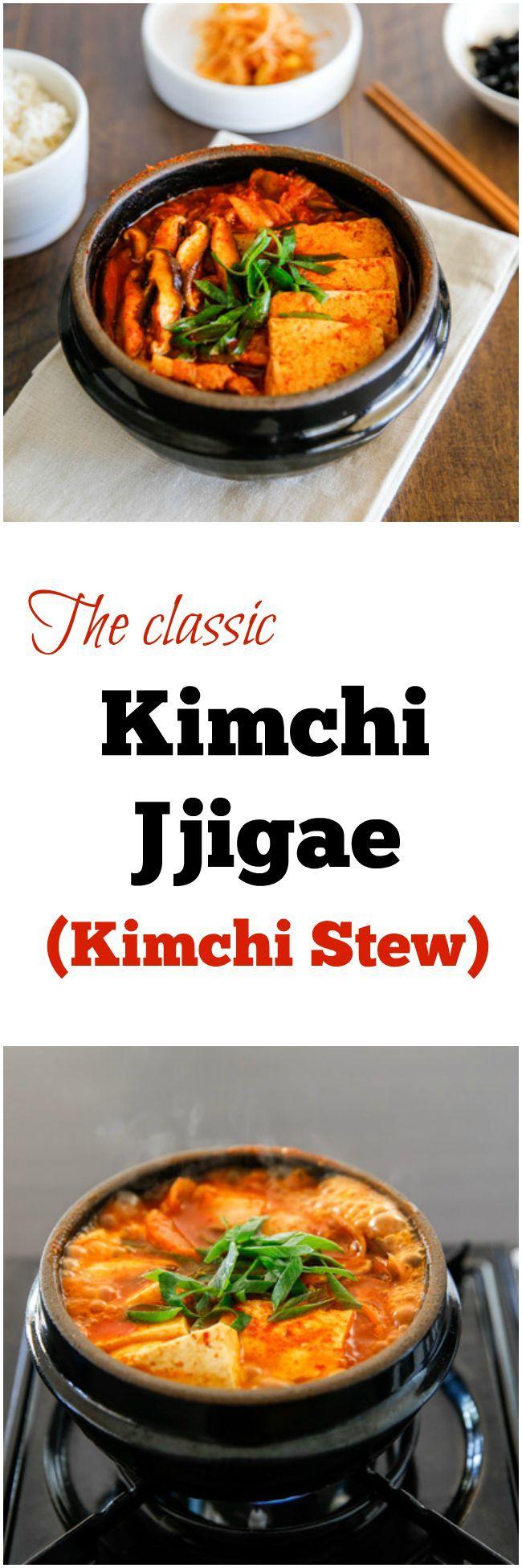 The classic, Kimchi Jjigae | Rezept | Korean Food ...