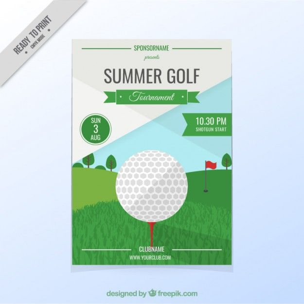 Golf Tournament Flyer Free Vector  Golf Tournament Idea
