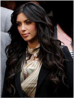 kim kardashian curly hair