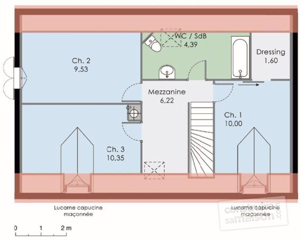 La maison · plan etage