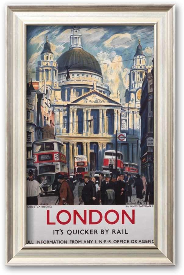 Art com ''London, It's Quicker by Rail'' Framed Art Print