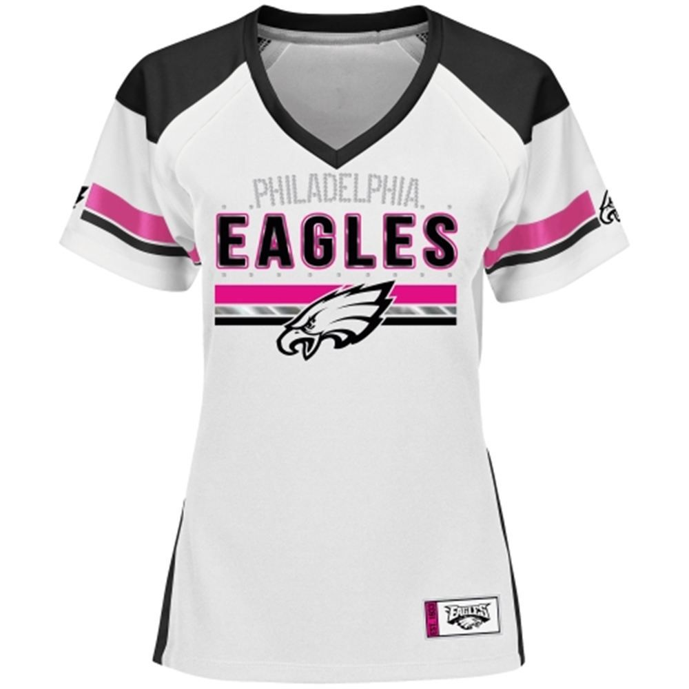 ... wholesale womens majestic white pink philadelphia eagles draft me  fashion t shirt 77bb8 19387 ea9f4fadf