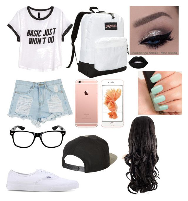 """""""Untitled #66"""" by madriz-soamdi on Polyvore featuring H&M, Vans, JanSport, Brixton, Lime Crime and NARS Cosmetics"""