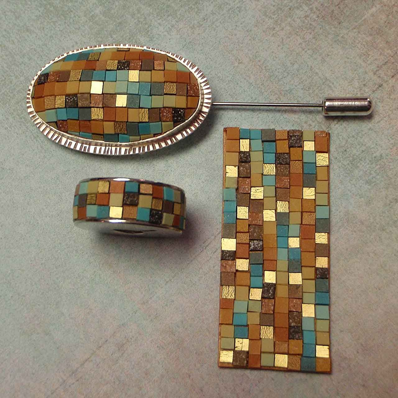 mosaic with polymer clay