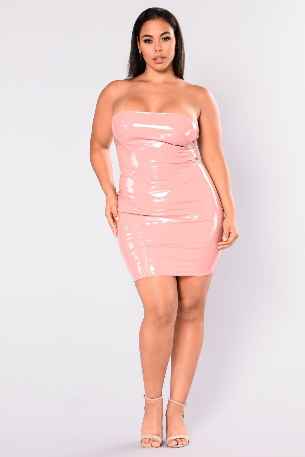 Plus Size King Kourt Latex Dress - Mauve $34.99 #fashion #ootd ...