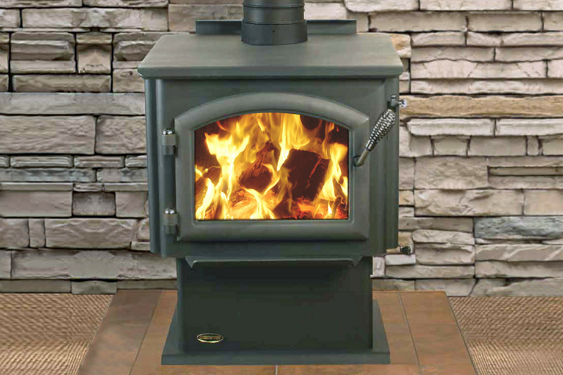 Jetmaster Quadra Fire 2100 Millenium Freestanding Wood Burning Fireplace