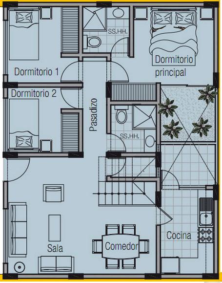 Planos De Casas 3d Con Medidas Buscar Con Google Planos De Casas 3d Planos De Casas Plano De Vivienda