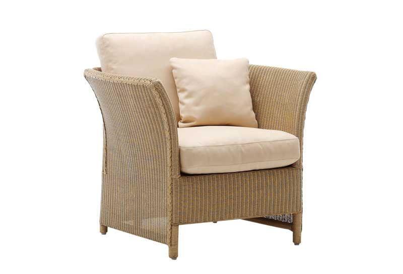Sika Design Lloyd Loom Sessel mit Hocker Largo kaufen im borono line Shop
