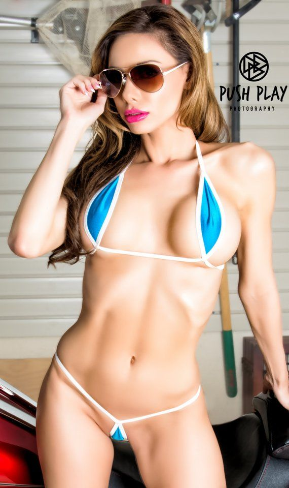 06c210874a Bitsy s Bikinis Aqua Blue Mini Teardrop Bikini 2pc Extreme Micro G String  Thong Mini Teardrop Top Mi