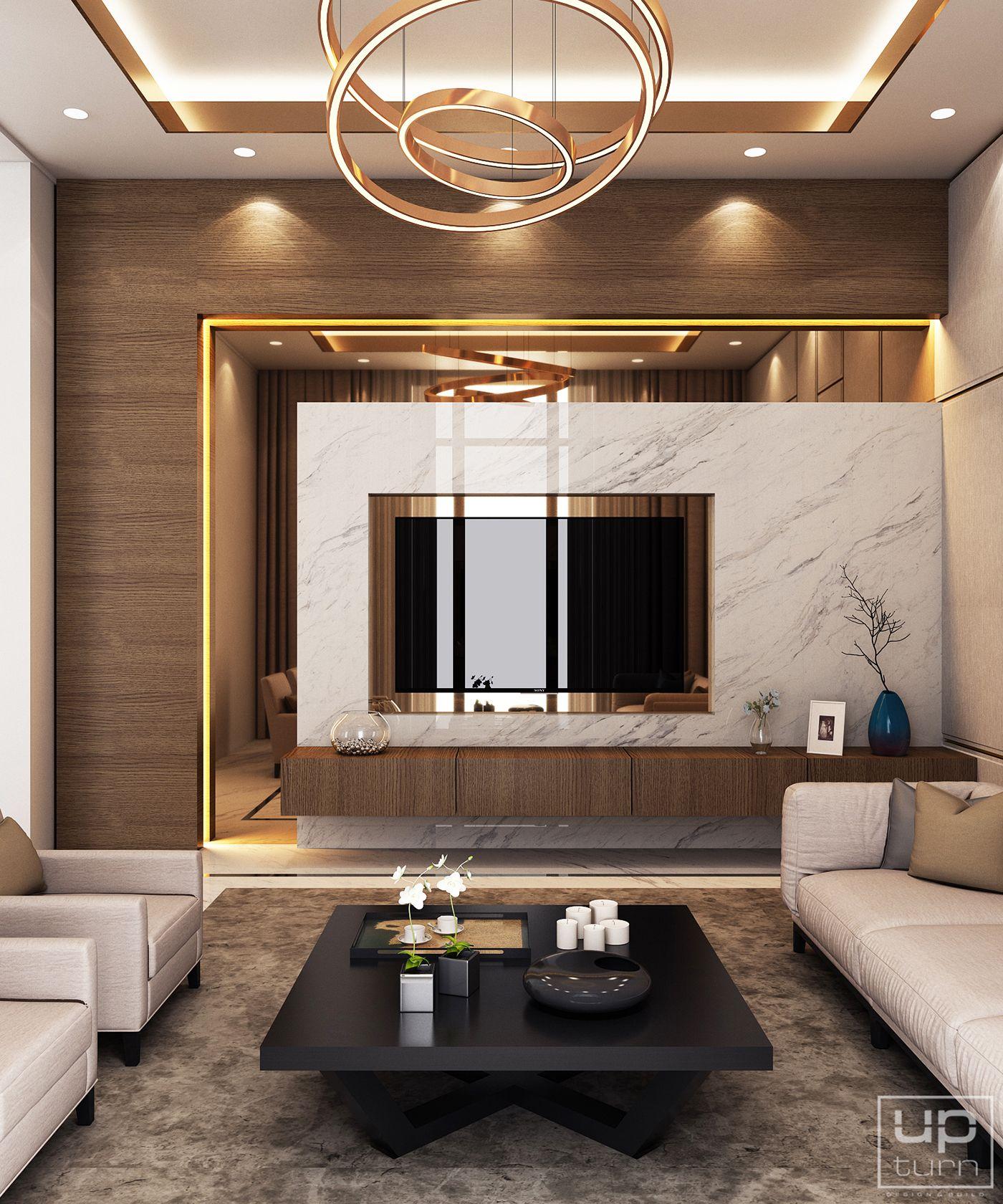 Luxury Modern Villa   Qatar on Behance   Living room design modern, Luxury living room design ...