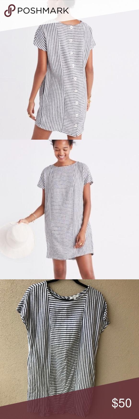 58513d089d4 Madewell Stripe-Play Button Back Tee Dress Stripe Play button-back tee dress  from